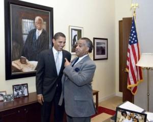 Obama with Sharpton