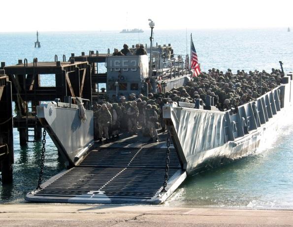 Amphibious Team Landing