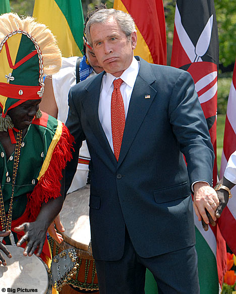 Bush in Africa -- And Hating It.